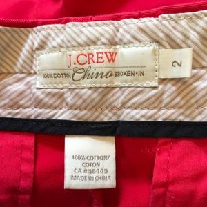 J. Crew Shorts - J Crew Broken-In Chino Shorts Red Size 2